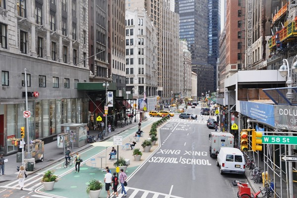Street infrastructure in New York City