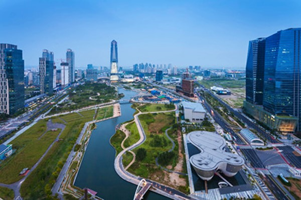 The South Korean city of Songdo