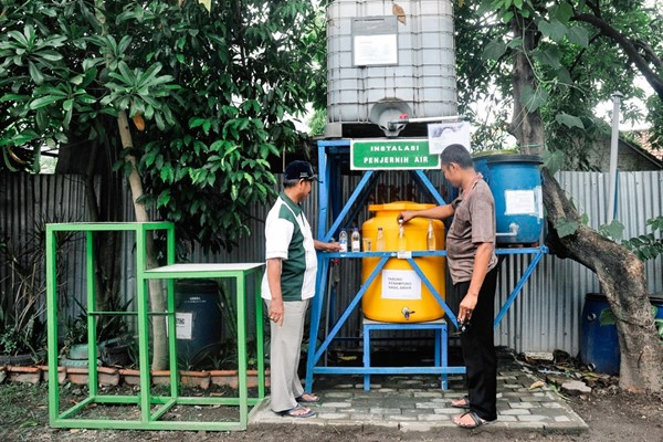 A water purification installation