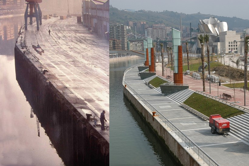 Bilbao's waterfront – before and after the transformation