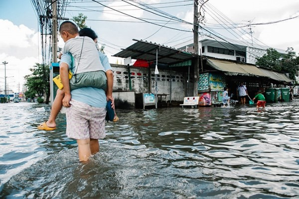 Heavy flooding in Bangkok