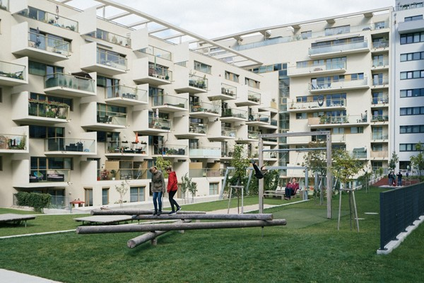 A residential area in Vienna