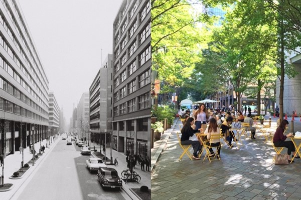 Marunouchi before and after