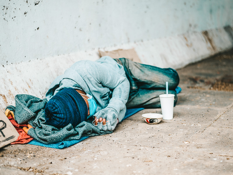 Homeless people are especially vulnerable to contracting the coronavirus and spreading it